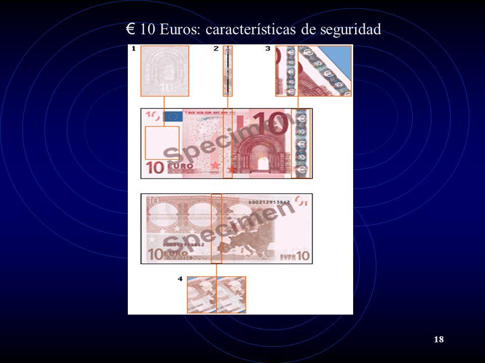 10 Euros: características de seguridad