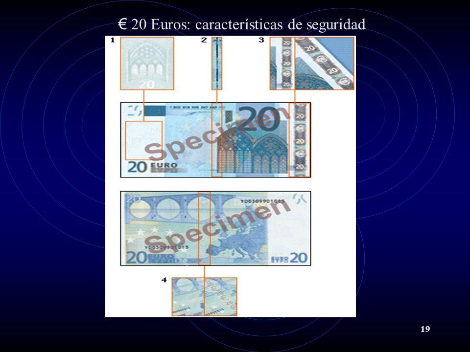 20 Euros: características de seguridad