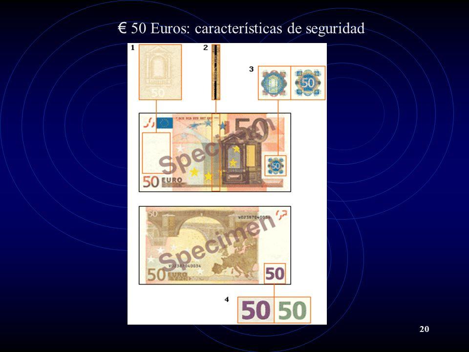 50 Euros: características de seguridad