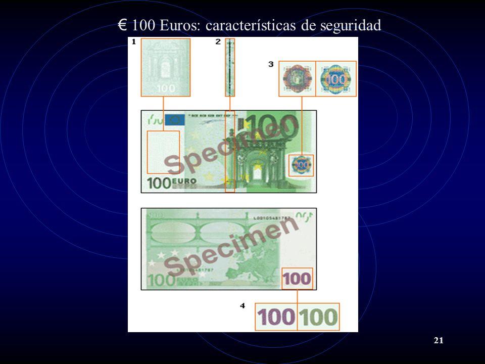 100 Euros: características de seguridad