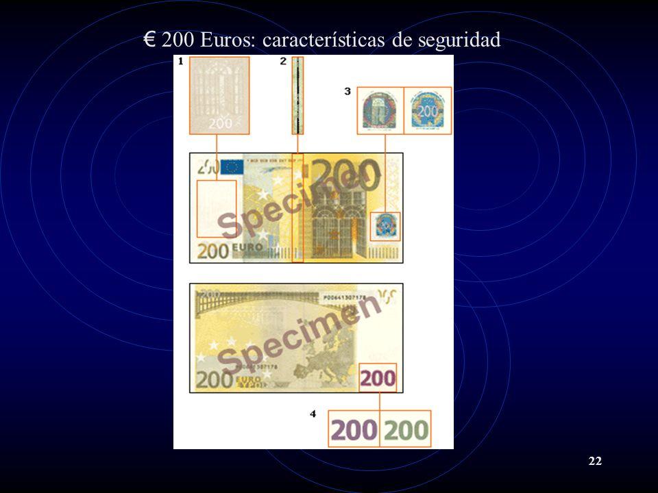 200 Euros: características de seguridad