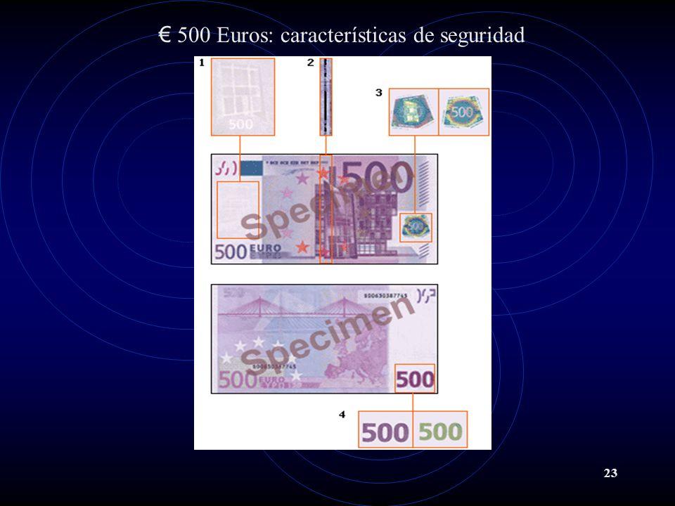 500 Euros: características de seguridad