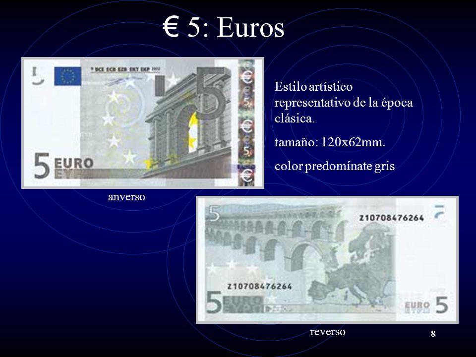 5: Euros Estilo artístico representativo de la época clásica.
