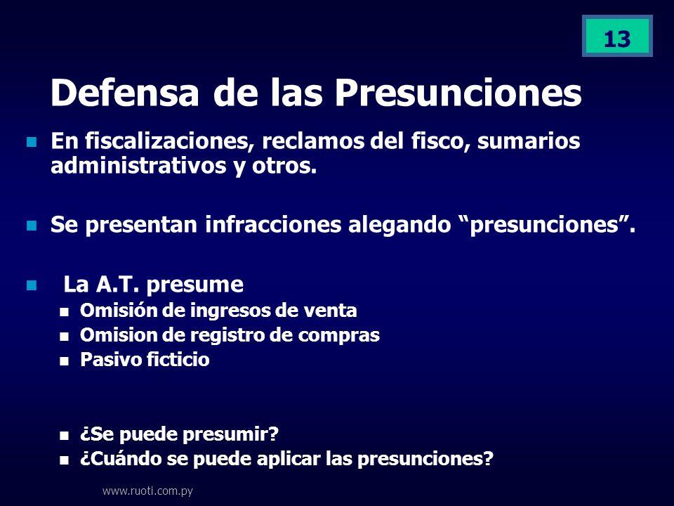 Defensa de las Presunciones