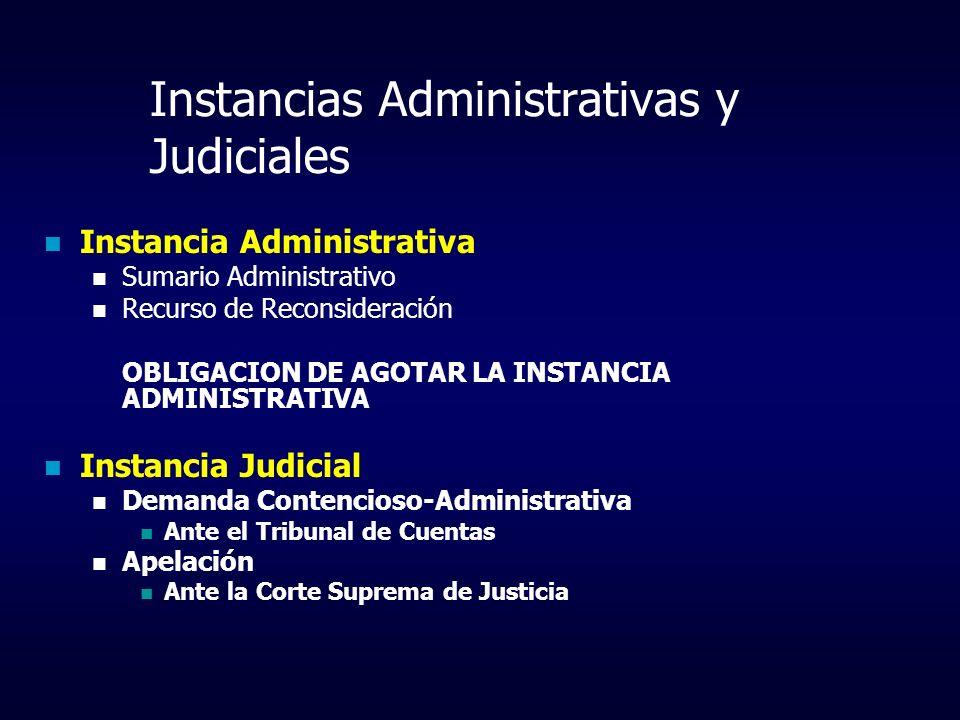 Instancias Administrativas y Judiciales