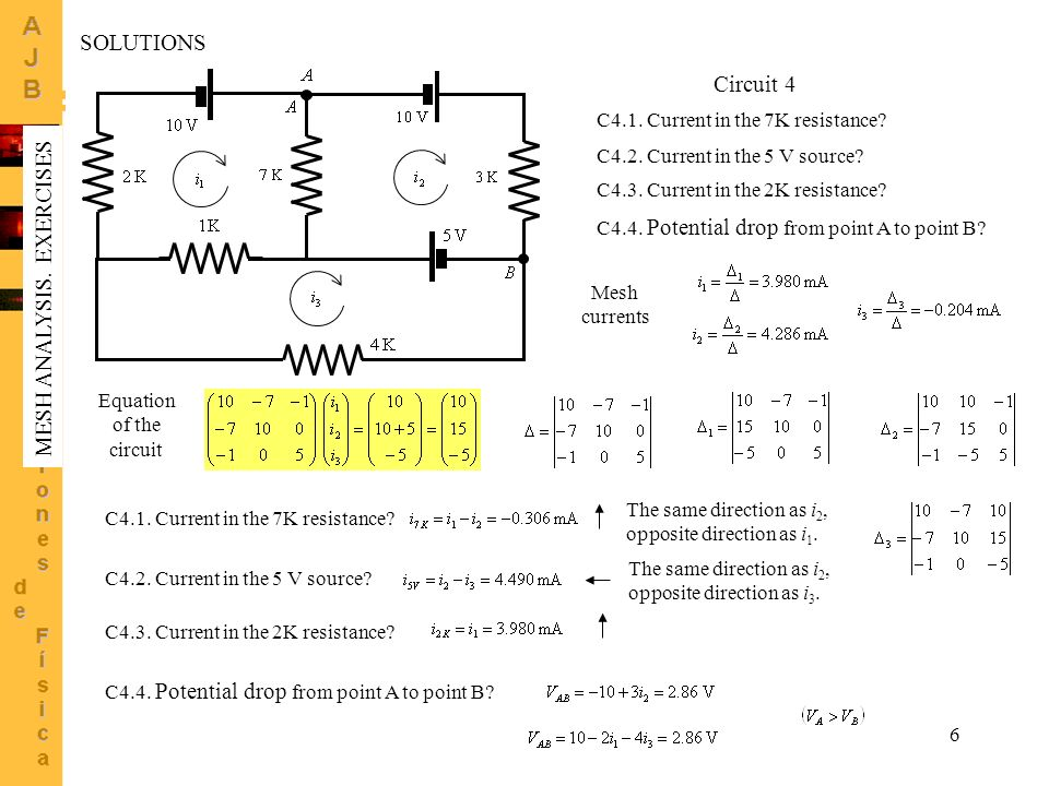Equation of the circuit