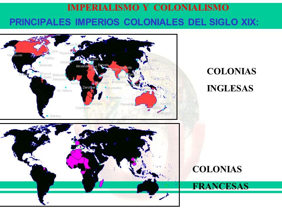 PRINCIPALES IMPERIOS COLONIALES DEL SIGLO XIX: