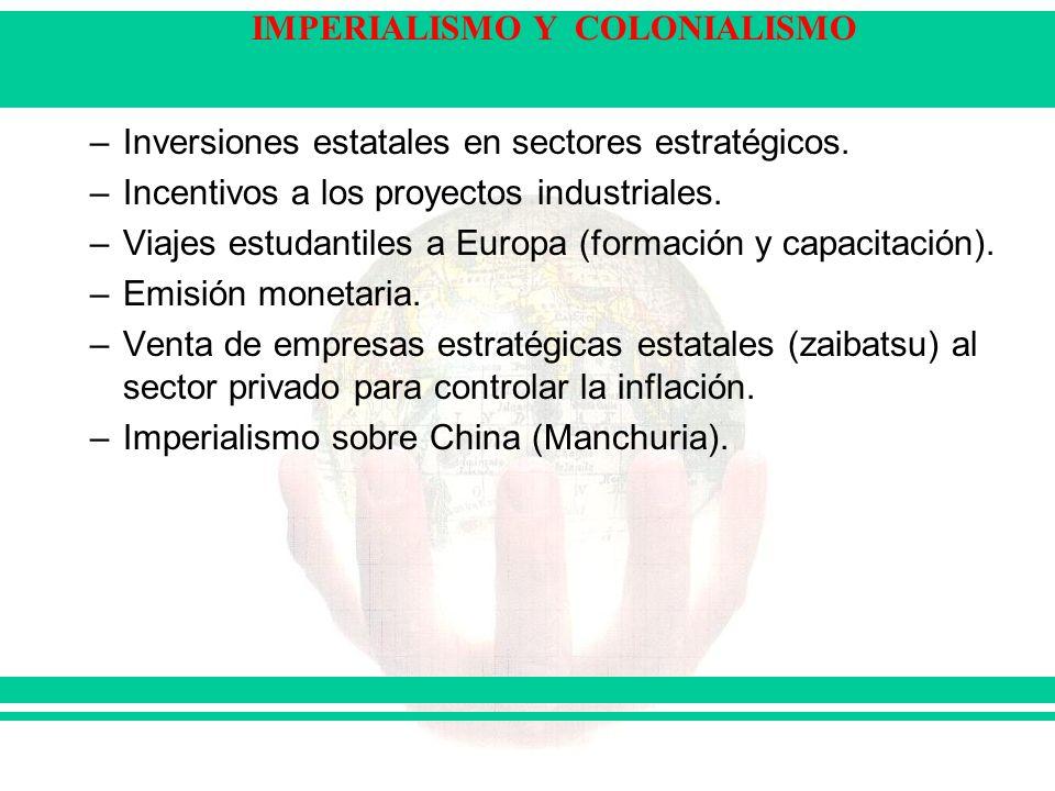 Inversiones estatales en sectores estratégicos.