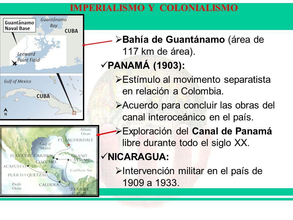 Bahía de Guantánamo (área de 117 km de área).