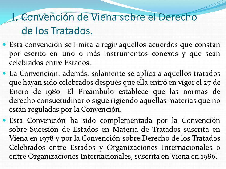 I. Convención de Viena sobre el Derecho de los Tratados.