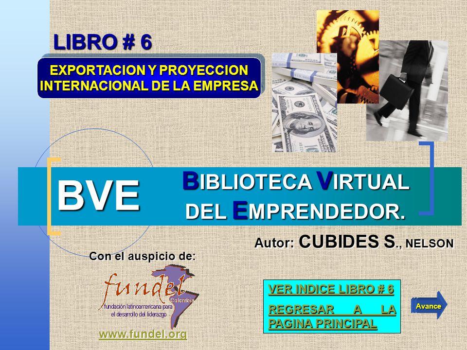 BVE BIBLIOTECA VIRTUAL DEL EMPRENDEDOR. LIBRO # 6