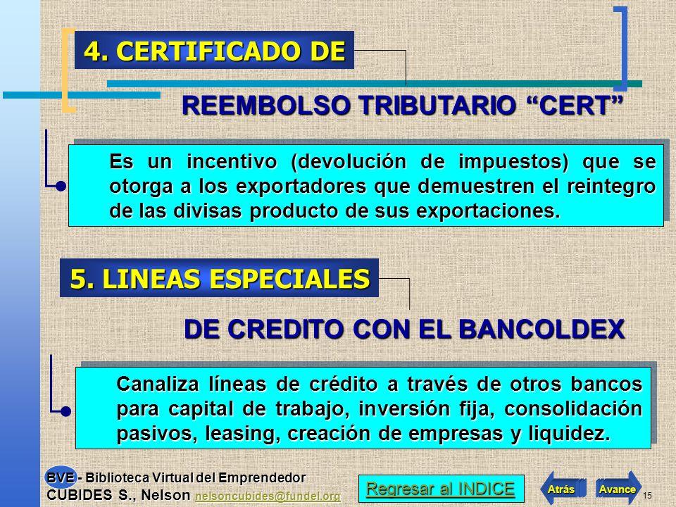 4. CERTIFICADO DE 5. LINEAS ESPECIALES