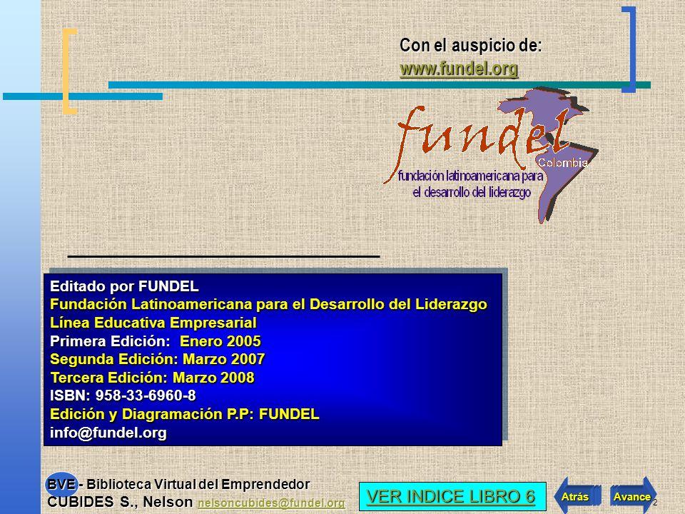 Con el auspicio de: www.fundel.org VER INDICE LIBRO 6