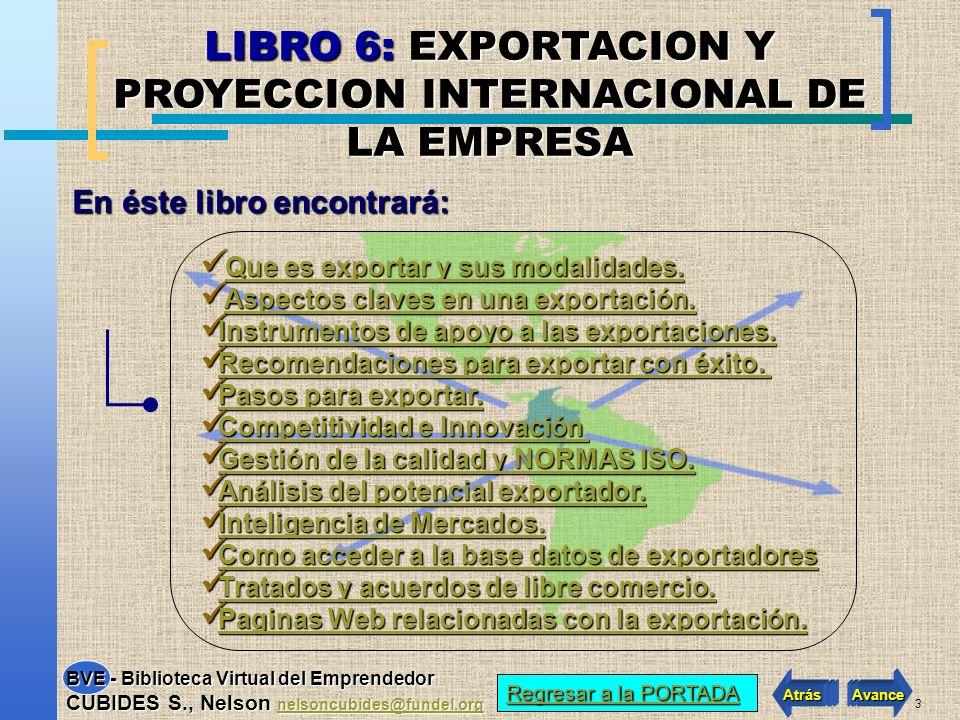 LIBRO 6: EXPORTACION Y PROYECCION INTERNACIONAL DE LA EMPRESA