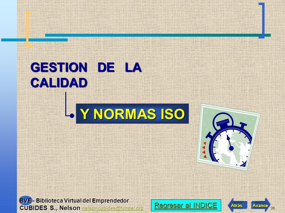 Y NORMAS ISO GESTION DE LA CALIDAD Regresar al INDICE