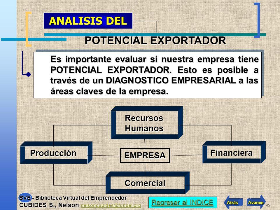 ANALISIS DEL POTENCIAL EXPORTADOR
