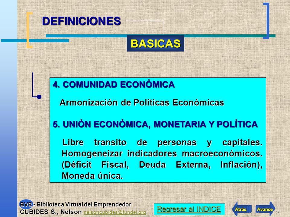 DEFINICIONES BASICAS 4. COMUNIDAD ECONÓMICA