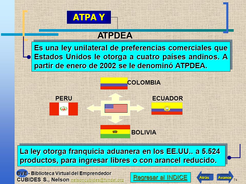 ATPA Y ATPDEA.