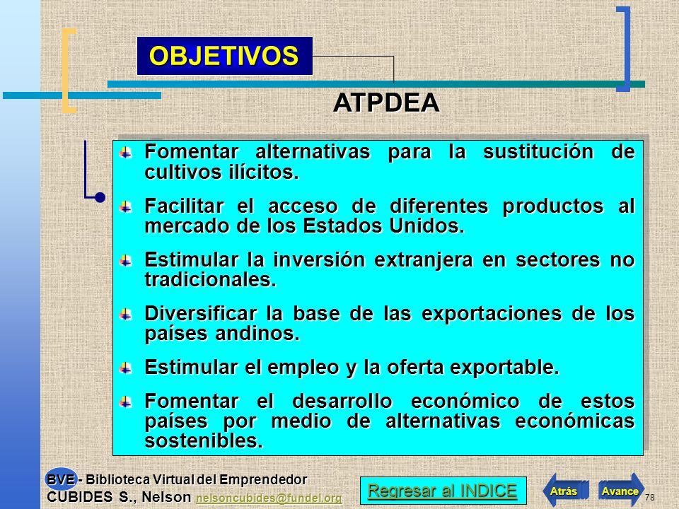 OBJETIVOS ATPDEA. Fomentar alternativas para la sustitución de cultivos ilícitos.