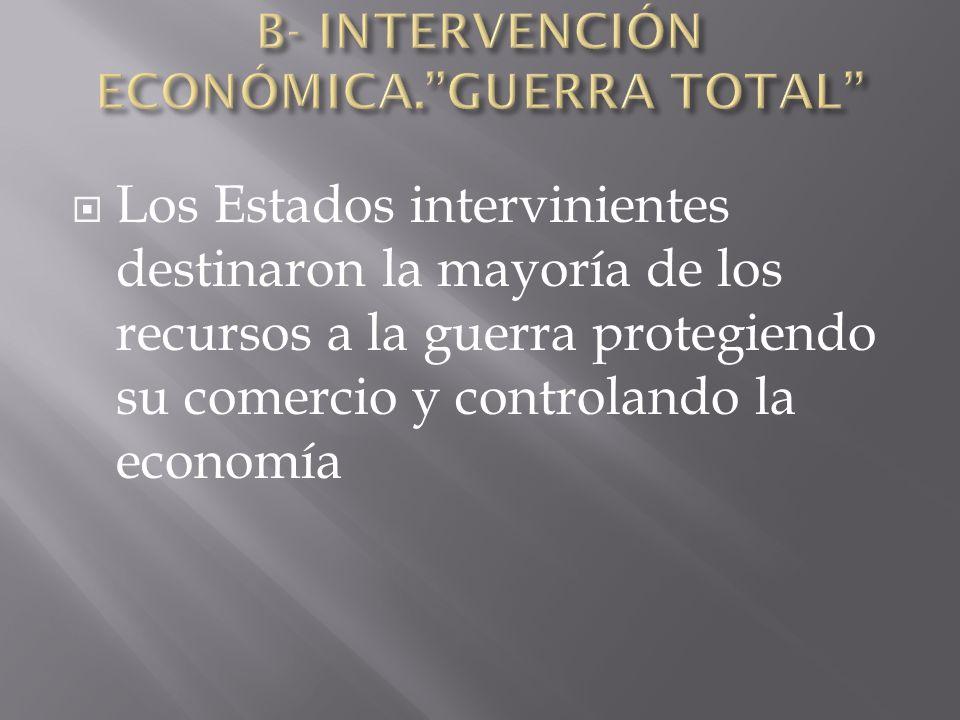 B- INTERVENCIÓN ECONÓMICA. GUERRA TOTAL