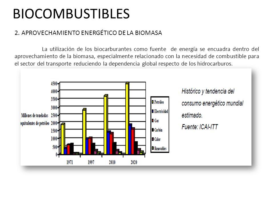 BIOCOMBUSTIBLES 2. APROVECHAMIENTO ENERGÉTICO DE LA BIOMASA