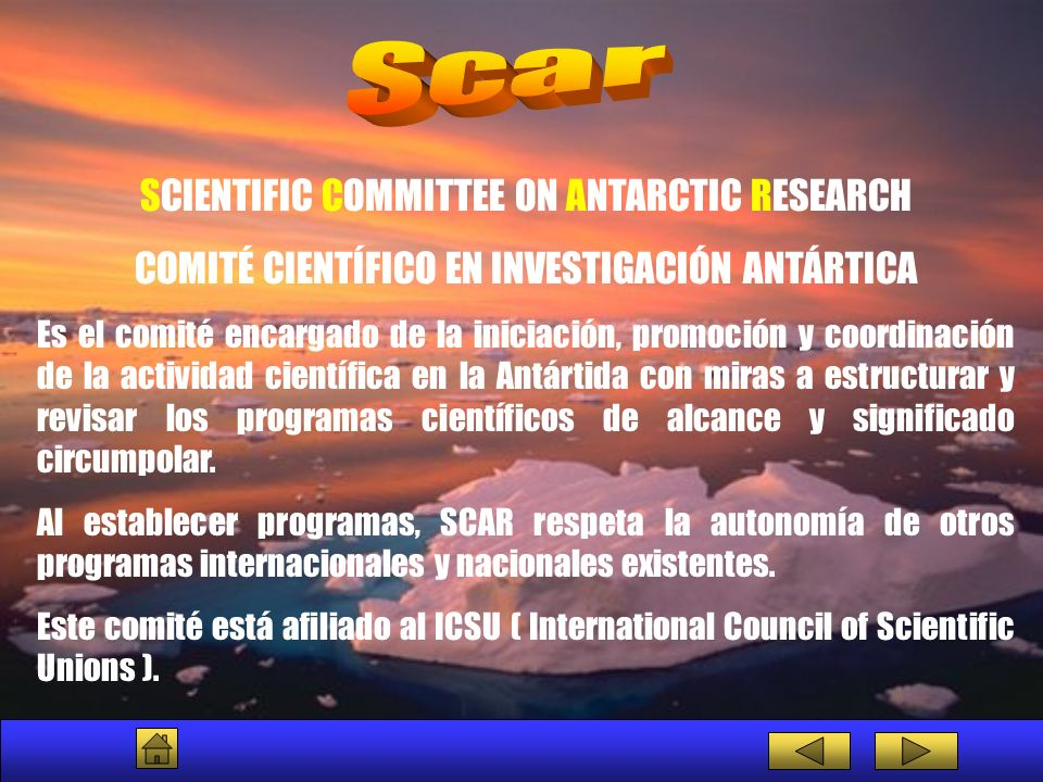 Scar SCIENTIFIC COMMITTEE ON ANTARCTIC RESEARCH