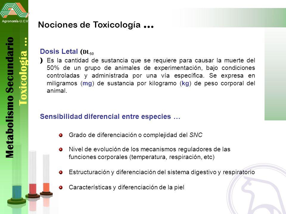 Metabolismo Secundario Toxicología …