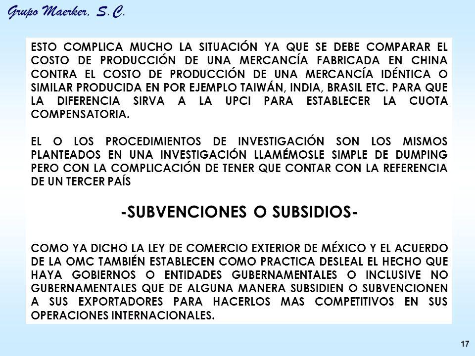 -SUBVENCIONES O SUBSIDIOS-