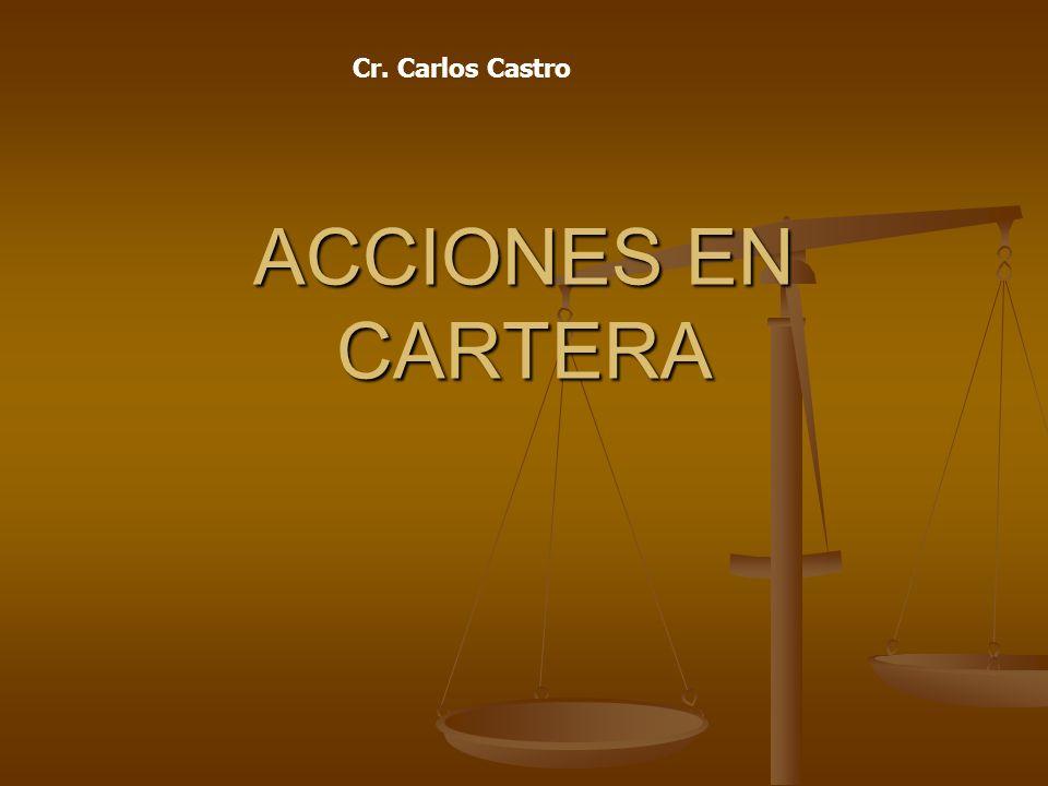 Cr. Carlos Castro ACCIONES EN CARTERA