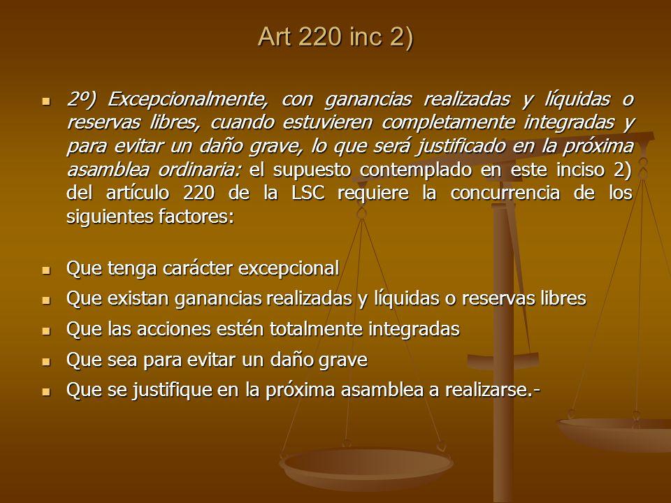 Art 220 inc 2)