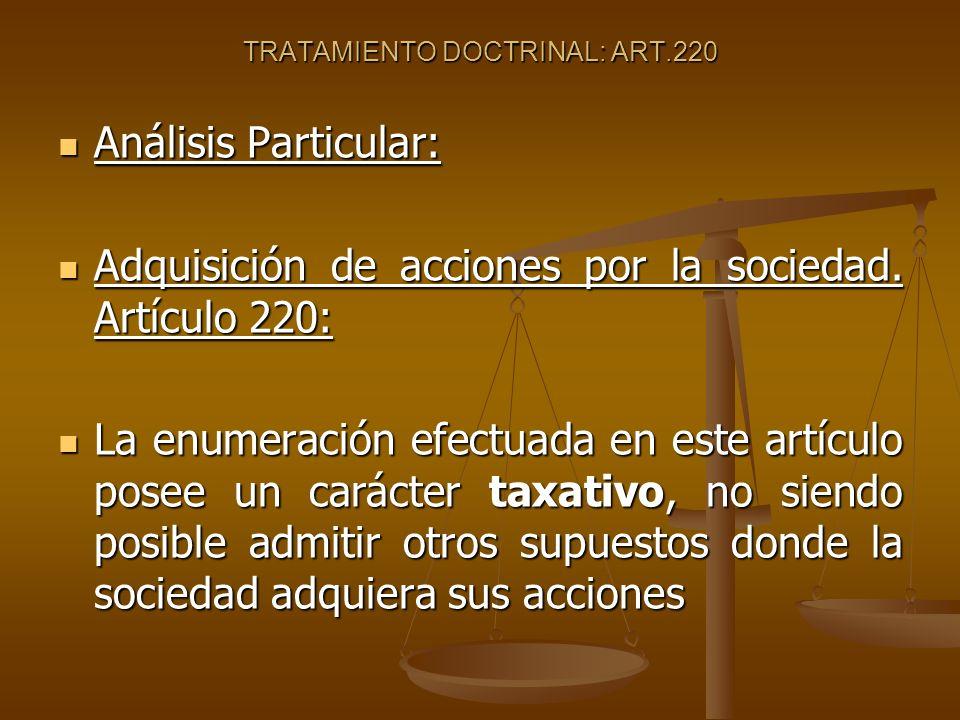 TRATAMIENTO DOCTRINAL: ART.220