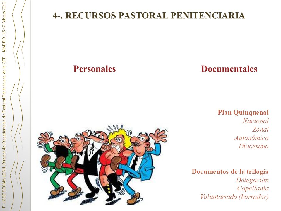 4-. RECURSOS PASTORAL PENITENCIARIA