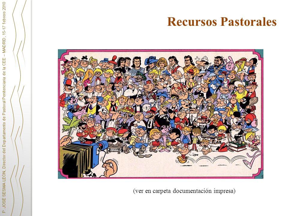 Recursos Pastorales (ver en carpeta documentación impresa)