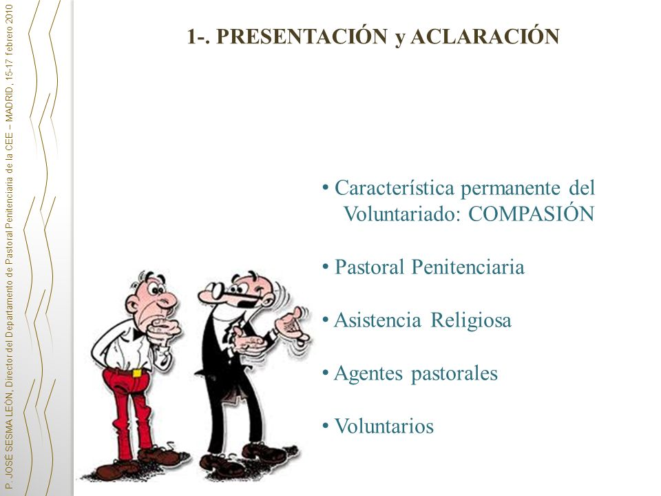 1-. PRESENTACIÓN y ACLARACIÓN