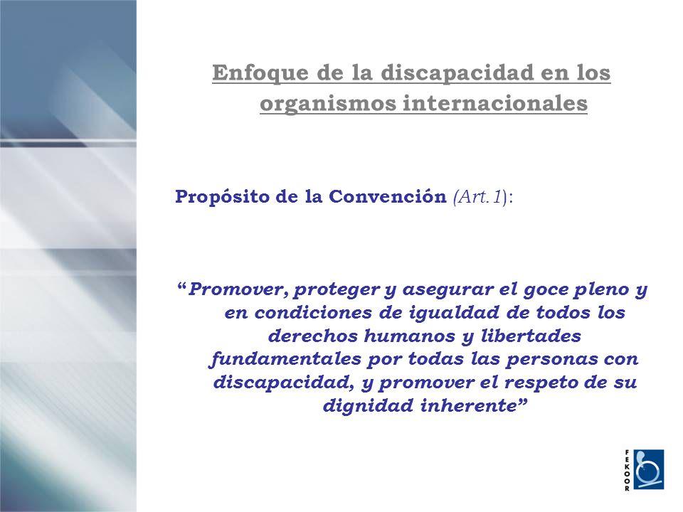 Enfoque de la discapacidad en los organismos internacionales