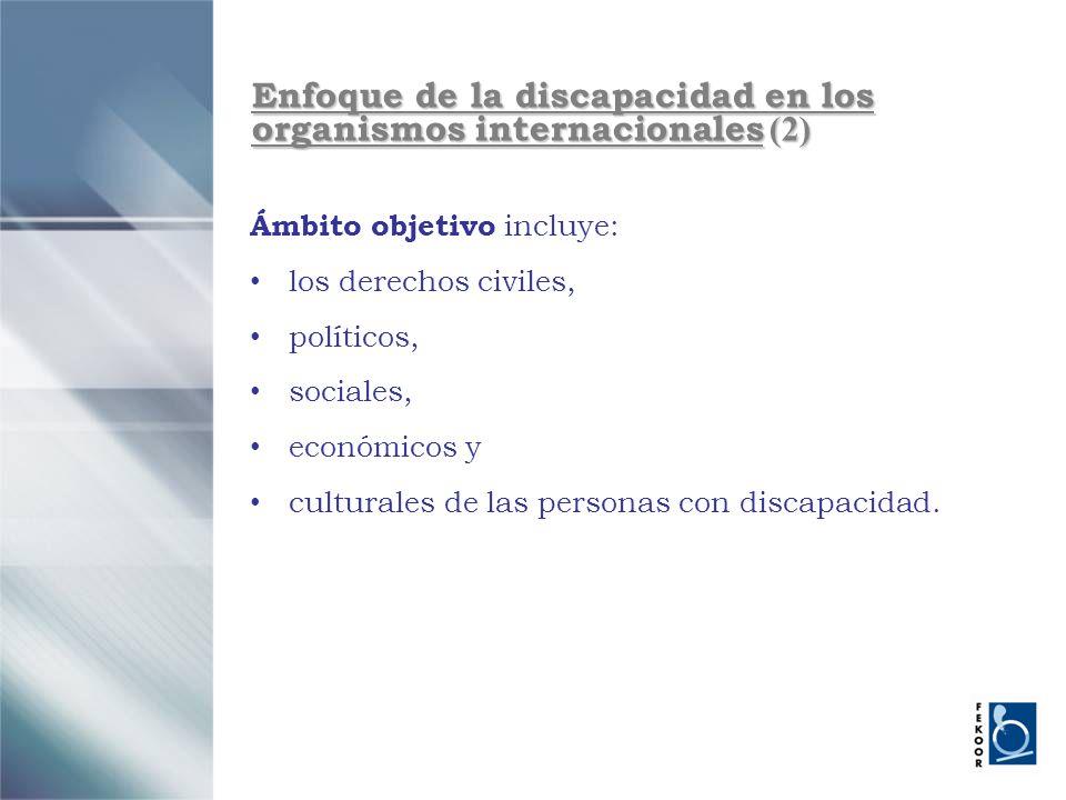 Enfoque de la discapacidad en los organismos internacionales (2)