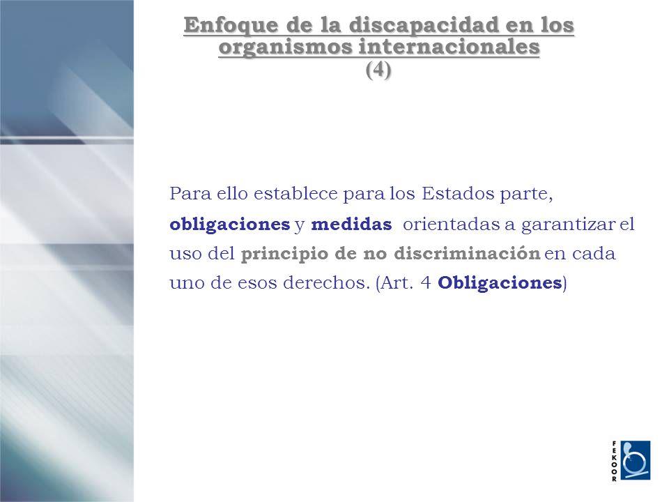 Enfoque de la discapacidad en los organismos internacionales (4)