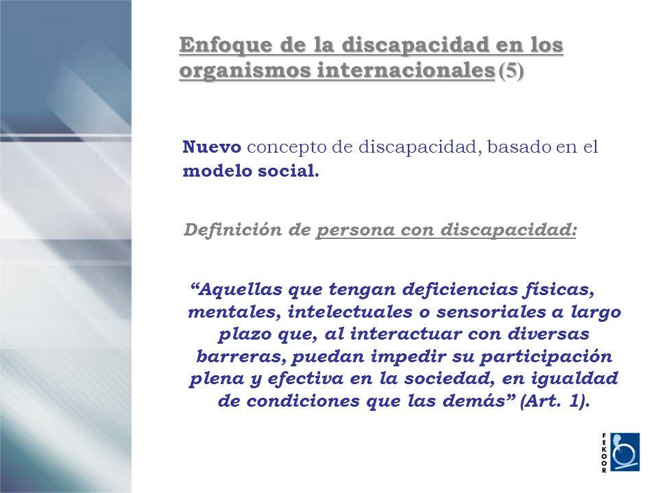 Enfoque de la discapacidad en los organismos internacionales (5)