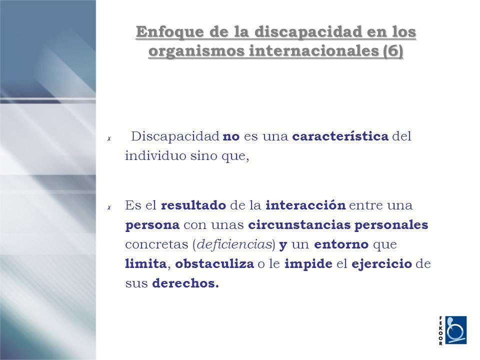 Enfoque de la discapacidad en los organismos internacionales (6)