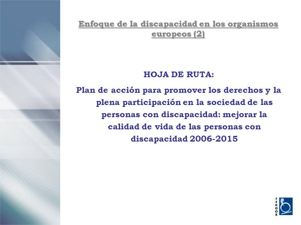Enfoque de la discapacidad en los organismos europeos (2)