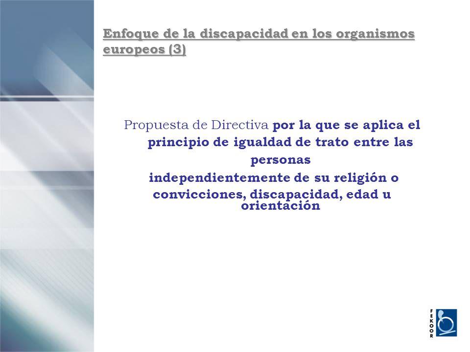 Enfoque de la discapacidad en los organismos europeos (3)