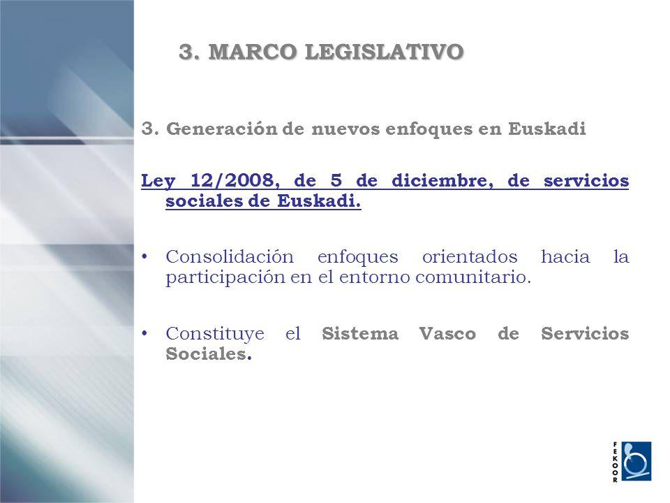 3. MARCO LEGISLATIVO 3. Generación de nuevos enfoques en Euskadi
