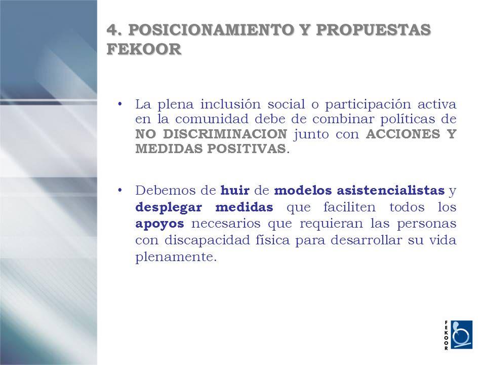 4. POSICIONAMIENTO Y PROPUESTAS FEKOOR