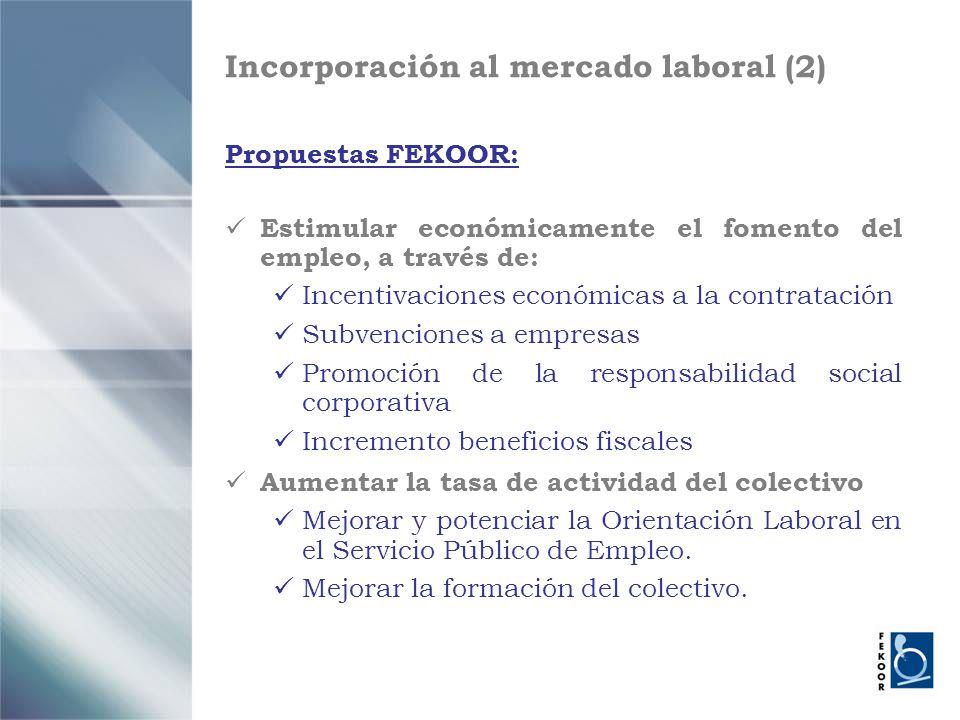 Incorporación al mercado laboral (2)