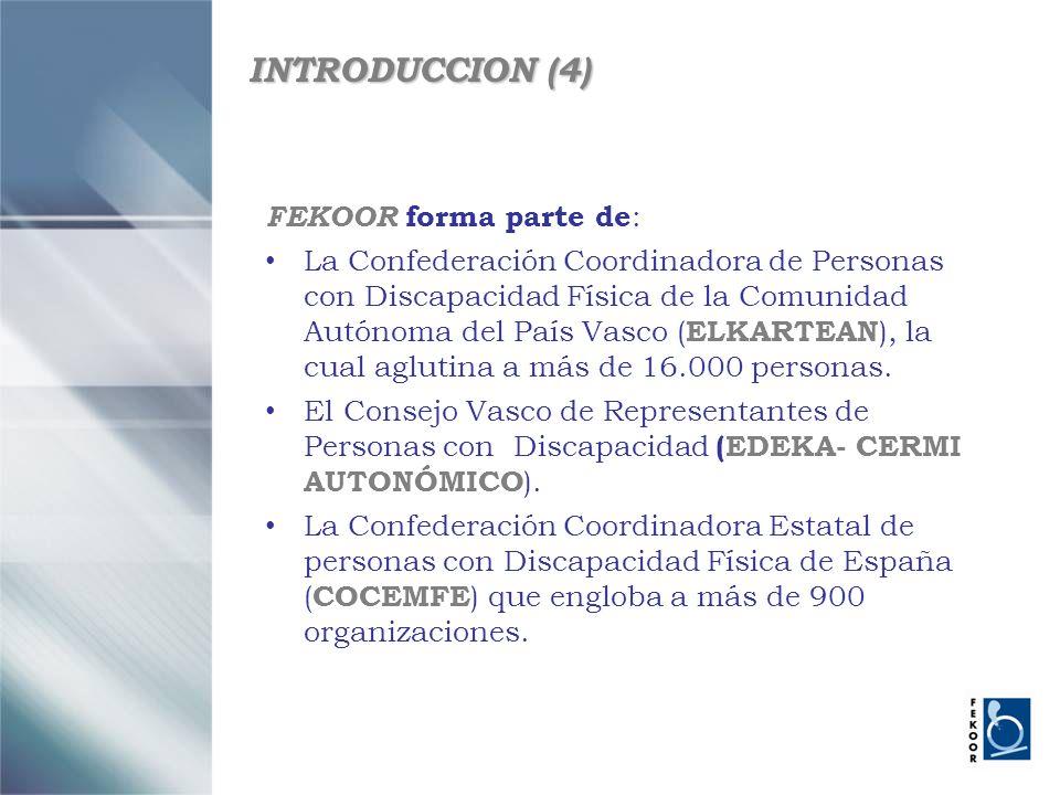 INTRODUCCION (4) FEKOOR forma parte de:
