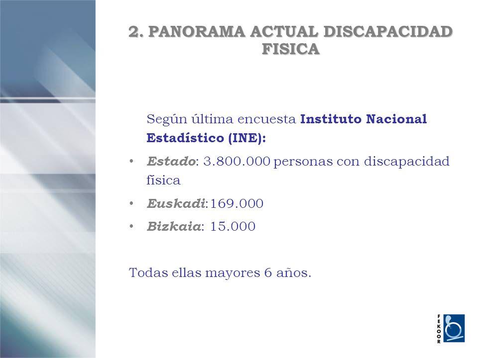 2. PANORAMA ACTUAL DISCAPACIDAD FISICA