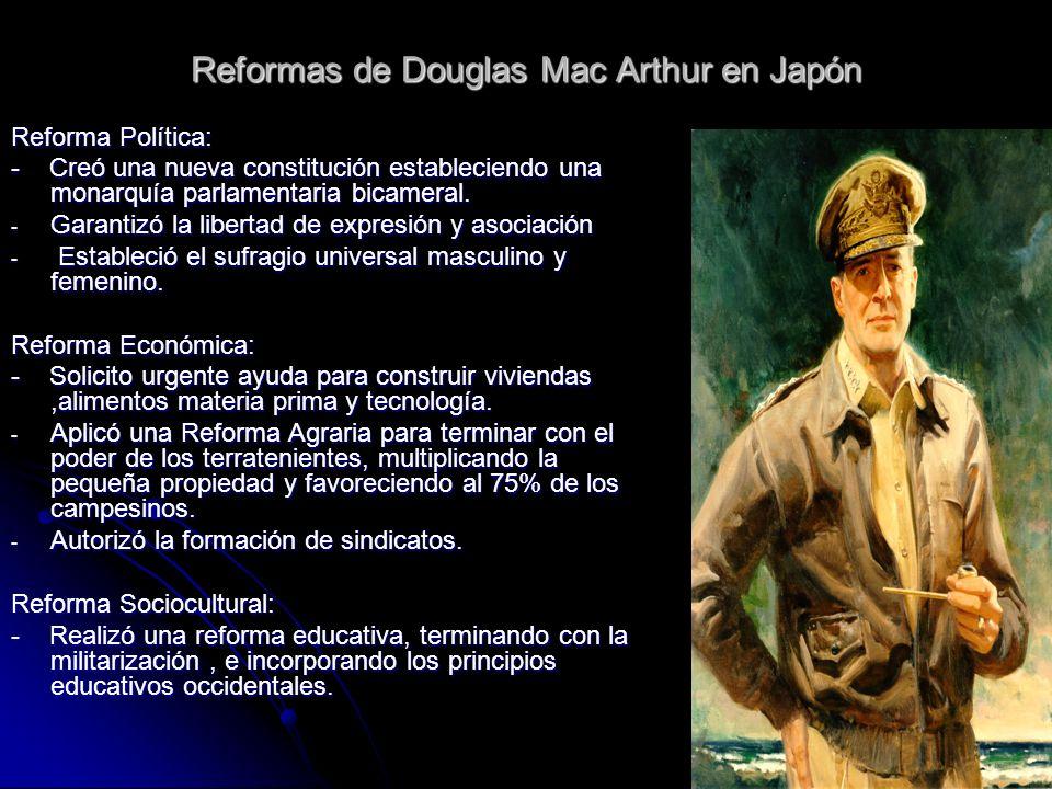 Reformas de Douglas Mac Arthur en Japón