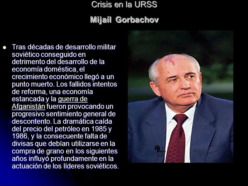 Crisis en la URSS Mijaíl Gorbachov