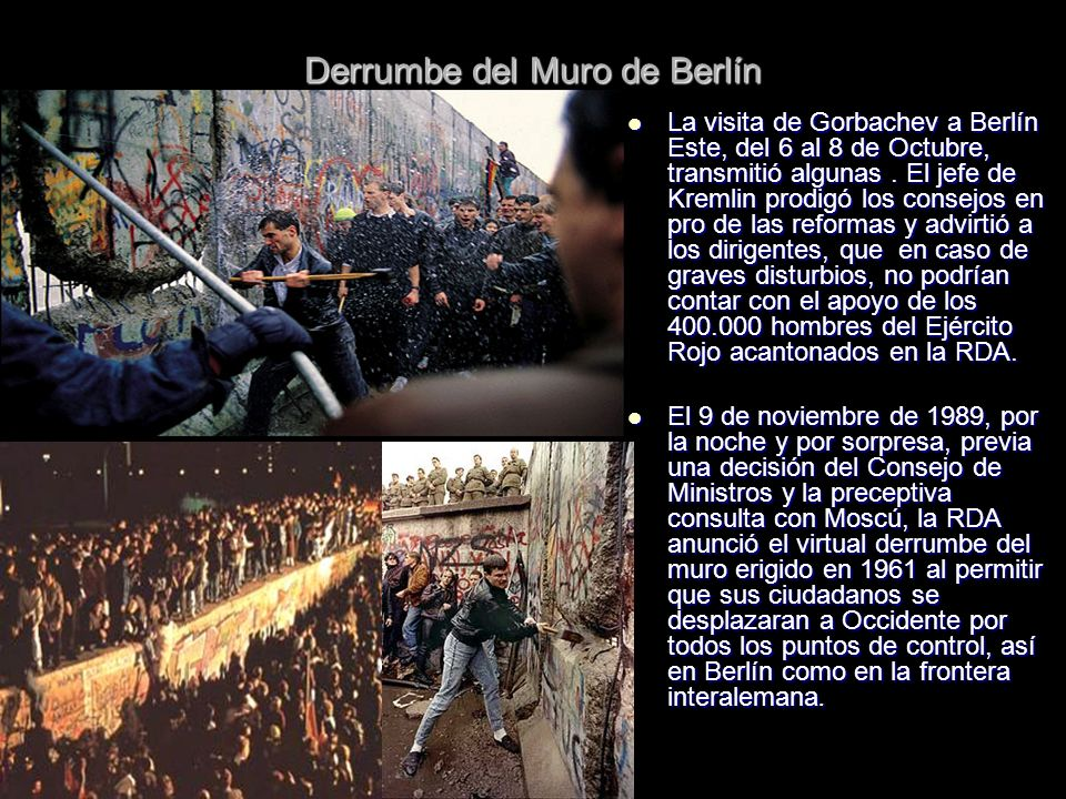 Derrumbe del Muro de Berlín
