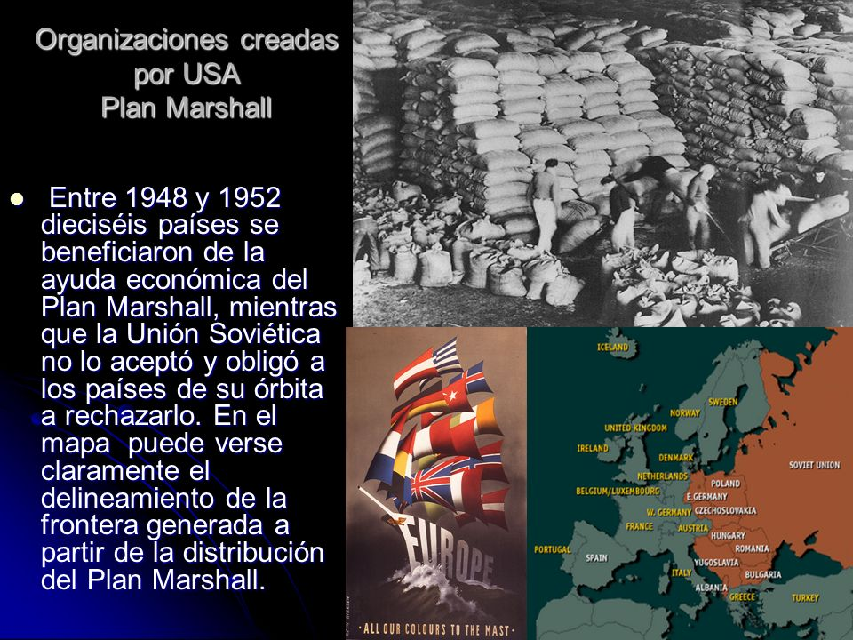 Organizaciones creadas por USA Plan Marshall
